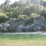 Baignade dans le Tavignanu. Camping