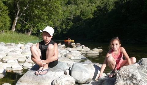Détente en pleine nature. Camping